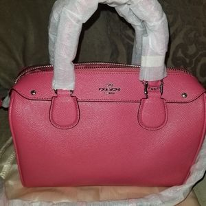 Coach Satchel Coral/Pink Brand New